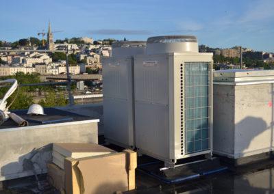 Installation d'unités extérieures sur un toits